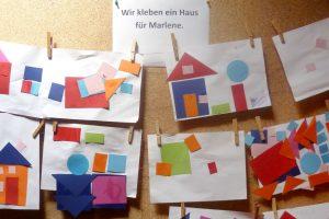 Kita nanos! aus Karlsruhe klebt Häuser für Marlene
