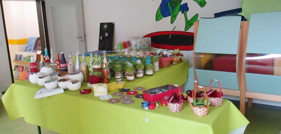 Kita aus Karlsruhe veranstaltet Frühlingsbasar