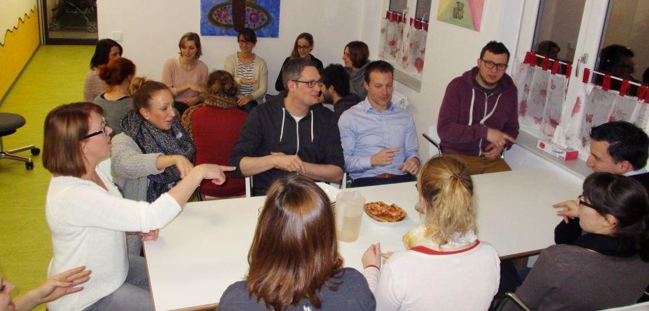Kita aus Karlsruhe führt gemeinsame Gespräche