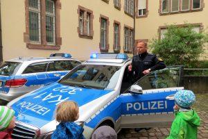 Kita Rabennest aus Karlsruhe zu Besuch auf der Wache Südwest