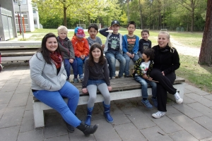 Gruppe der Ferienbetreuung Eurolandia