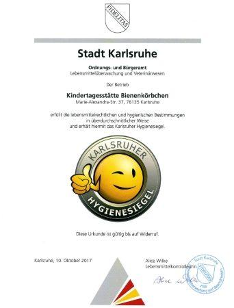 Das Karlsruher Hygienesiegel für die Bienchen