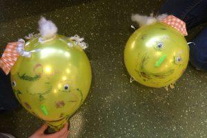 Bunt beklebte Luftballons