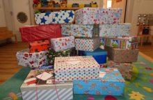 Kita Stadtvilla nimmt an Weihnachten im Schuhkarton teil
