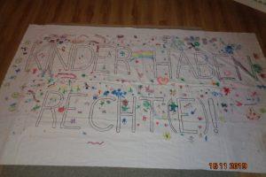 """Banner """"Kinder haben Rechte"""""""